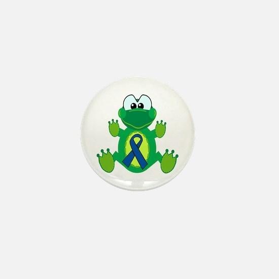Blue Awareness Ribbon Goofkins Frog Mini Button