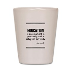 AristotleEducation Shot Glass