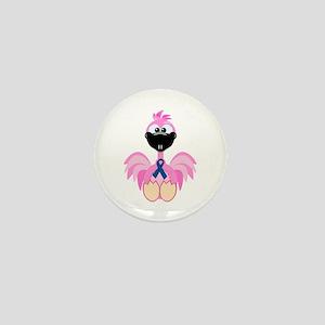 Blue Awareness Ribbon Goofkins Flamingos Mini Butt