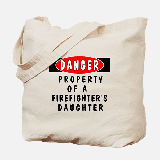 Firefighters Daughter Tote Bag