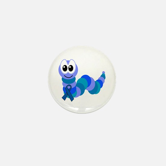 Blue Awareness Ribbon Goofkins Caterpillar Mini Bu