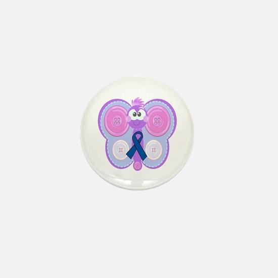 Blue Awareness Ribbon Goofkins Butterfly Mini Butt