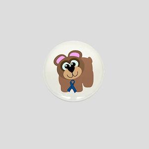 Blue Awareness Ribbon Goofkins Bear Mini Button