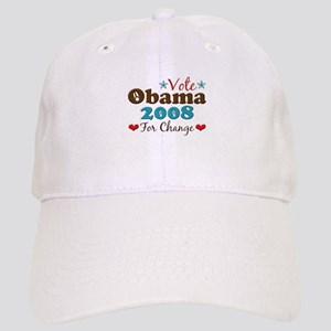Vote Obama 2008 For Change Cap