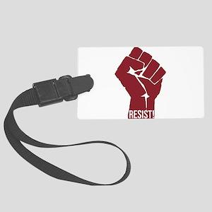 Resist Raised Fist Justice Large Luggage Tag