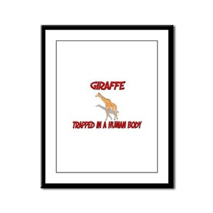 Giraffe trapped in a human body Framed Panel Print