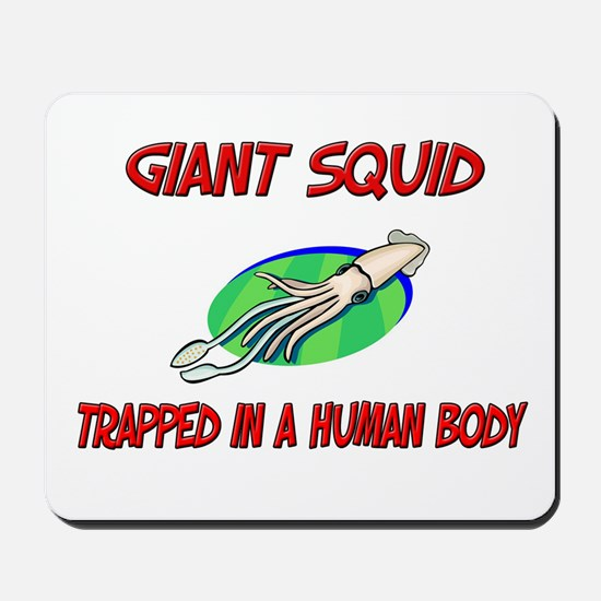 Giant Squid trapped in a human body Mousepad