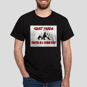 Giant Panda trapped in a human body Dark T-Shirt