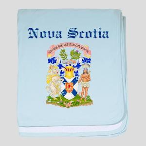 Nova Scotia Canada flag design baby blanket
