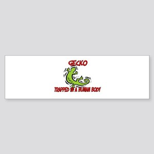 Gecko trapped in a human body Bumper Sticker