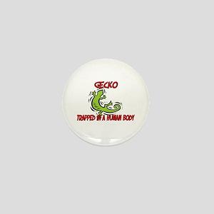Gecko trapped in a human body Mini Button