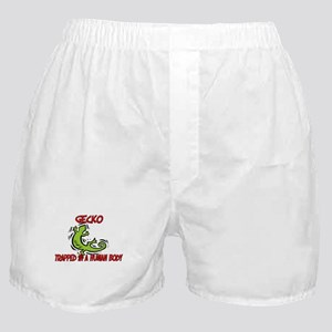 Gecko trapped in a human body Boxer Shorts