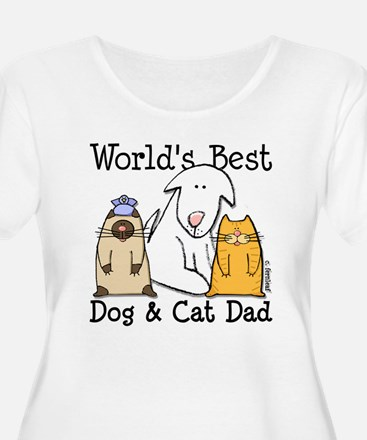 World's Best Dog and Cat Dad T-Shirt