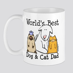 World's Best Dog and Cat Dad Mug