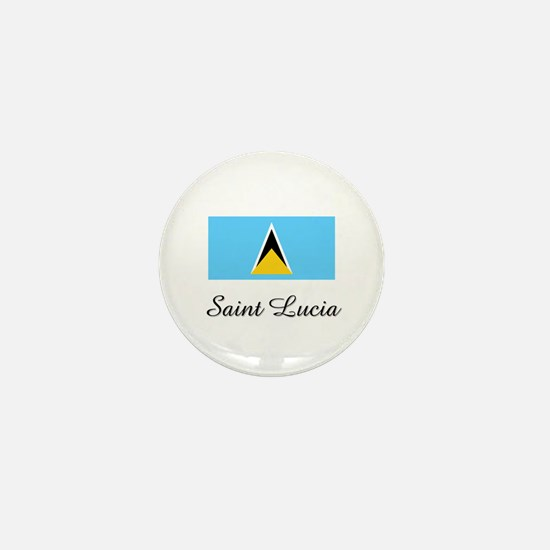 Saint Lucia Flag Mini Button