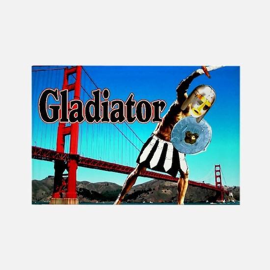 Gladiator at Golden Gate Brid Rectangle Magnet