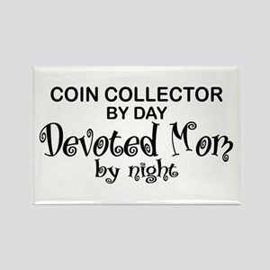 Coin Collector Devoted Mom Rectangle Magnet