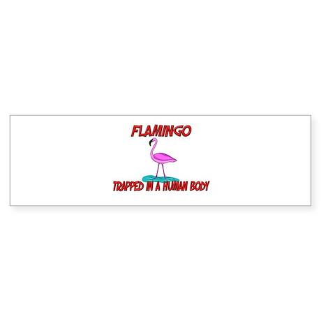 Flamingo trapped in a human body Bumper Sticker