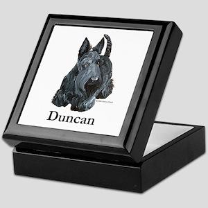 """Scottish Terrier """"Duncan"""" Keepsake Box"""