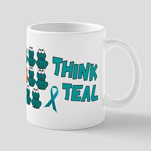 Teal Frogs 2 Mug