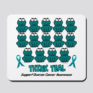 Teal Frogs 3 Mousepad