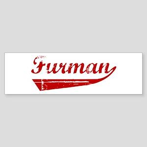 Furman (red vintage) Bumper Sticker