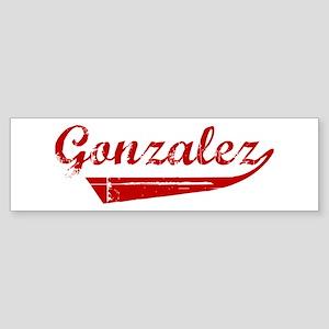 Gonzalez (red vintage) Bumper Sticker
