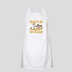 Cheers on 80th BBQ Apron