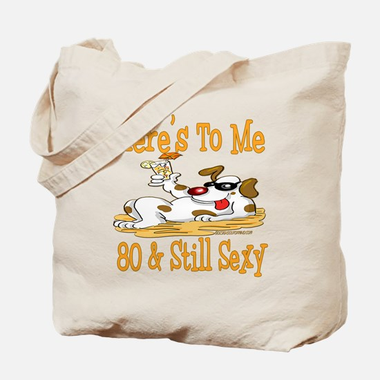 Cheers on 80th Tote Bag