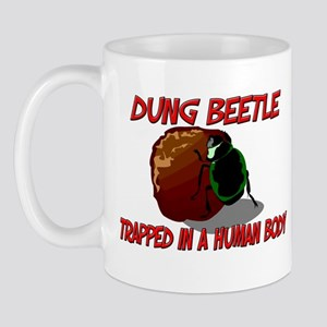 Dung Beetle trapped in a human body Mug