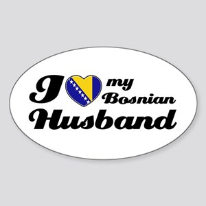 I love my Bosnian Husband Oval Sticker