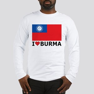 I Love Burma Long Sleeve T-Shirt