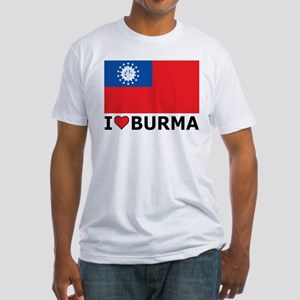 I Love Burma Fitted T-Shirt