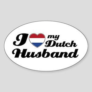 I love my Dutch Husband Oval Sticker