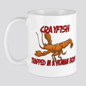 Crayfish trapped in a human body Mug