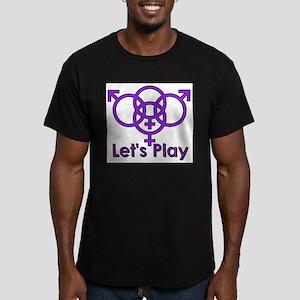 "Swinger Symbol ""Let's Play"" Ash Grey T-Shirt"