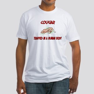 Cougar trapped in a human body Fitted T-Shirt