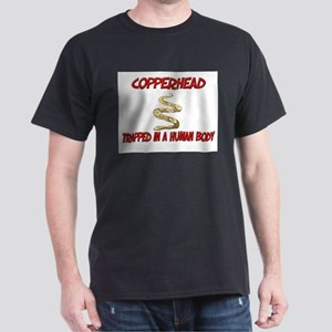 Copperhead trapped in a human body Dark T-Shirt