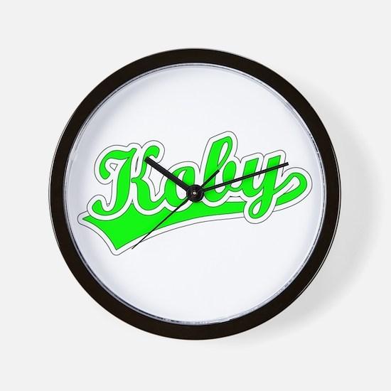 Retro Koby (Green) Wall Clock