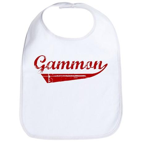 Gammon (red vintage) Bib