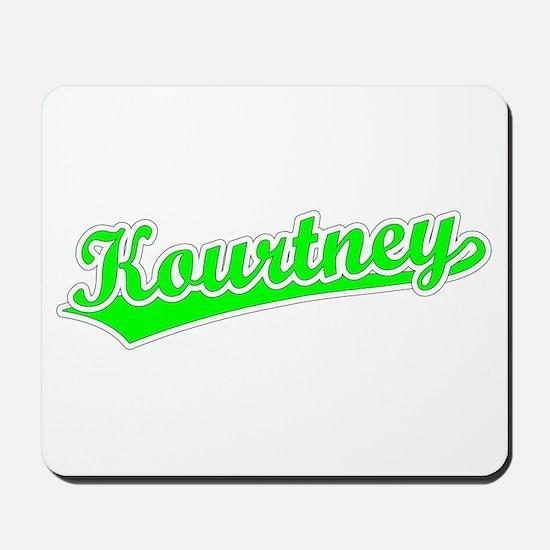 Retro Kourtney (Green) Mousepad