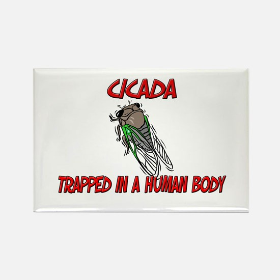 Cicada trapped in a human body Rectangle Magnet
