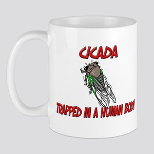 Cicada trapped in a human body Mug