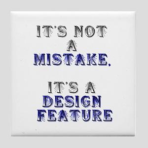 Mistake Design #1 Tile Coaster