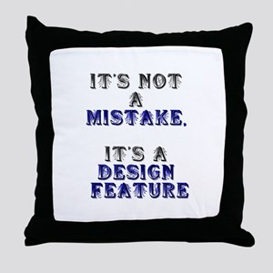 Mistake Design #1 Throw Pillow