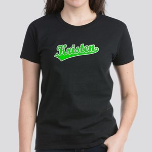 Retro Kristen (Green) Women's Dark T-Shirt