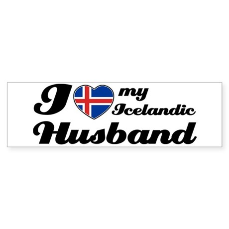 I love my Icelandic Husband Bumper Sticker