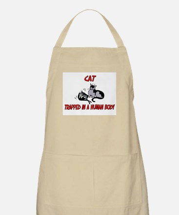 Cat trapped in a human body BBQ Apron