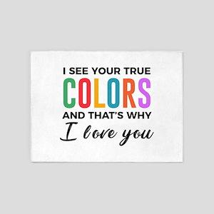 True Colors Unconditional Love Auti 5'x7'Area Rug