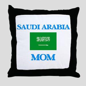 Saudi Arabia Mom Throw Pillow
